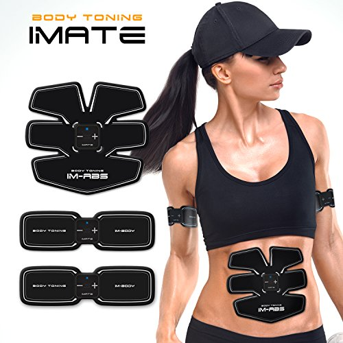 Usun EMS ABS Abdominal Body Training Pad Set Exerciser Muscle Toner Fitness Belt